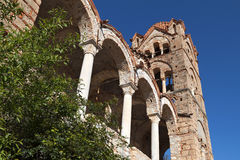 Monastery of Pantanassa at Mystras, Greece. Monastery of Pantanassa at the fortified historical city of Mystras in Greece Stock Photography