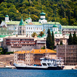 Monastery Panteleimonos on Mount Athos Royalty Free Stock Images