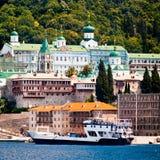 Monastery Panteleimonos on Mount Athos Royalty Free Stock Images