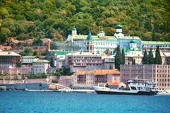 Monastery Panteleimonos on Mount Athos in Greece Stock Photography