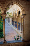 Monastery of Pedralbes in Barcelona, Catalonia, Spain Stock Images