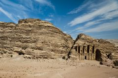 The Monastery, Petra's most imposing monument Royalty Free Stock Photo