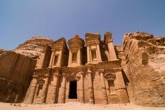 The Monastery at Petra Stock Photos