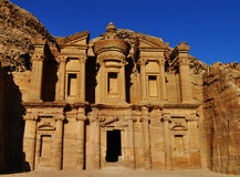 The monastery at Petra Royalty Free Stock Photos
