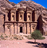 The Monastery, Petra. Stock Image