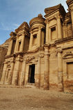 The monastery at Petra. Jordan. A tomb carved from sandstone mountain cliffs and later used as a Christian monastery Stock Photo