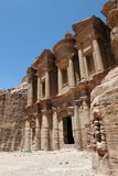 Monastery in Petra. Monastery in Petra, Jordan in the Middle East royalty free stock photography