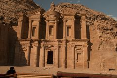 Monastery,Petra Royalty Free Stock Photography