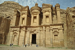A monastery in Petra. The monastery in Petra at the top of the hill Stock Photo