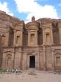 Monastery at Petra Royalty Free Stock Images