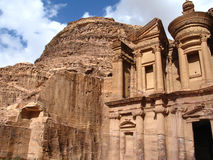 Monastery at Petra stock images
