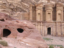 Monastery at Petra Stock Photos