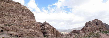 Monastery at Petra Stock Photo