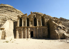 Monastery in Petra Royalty Free Stock Images
