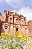 The Monastery in Petra Royalty Free Stock Image