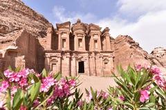 The Monastery in Petra Royalty Free Stock Photos