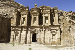 The Monastery in  Petra Stock Photography
