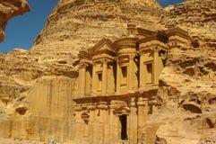 The monastery petra jordan Stock Images