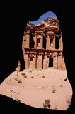 The Monastery, Petra, Jordan. The Monastery is the largest tomb façade in Petra. It was built as a tomb monument. The structure consists of two stories topped Stock Photo