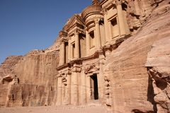 Monastery in Petra, Jordan Stock Photo