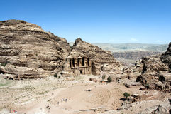 Monastery in Petra, Jordan Royalty Free Stock Photo