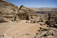The monastery in Petra. Jordan Royalty Free Stock Photo