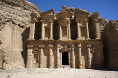 The monastery in Petra. Jordan Royalty Free Stock Image