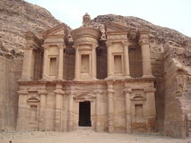 The Monastery Petra Jordan. The Monastery, main sight in the ancient city od Petra Jordan Stock Images