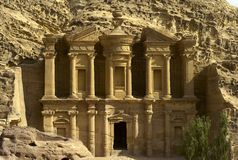 Monastery in Petra, Jordan. The monastery Ad-Dayr in the ancient city of Petra, Jordan Stock Images