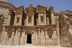The Monastery in Petra Stock Image