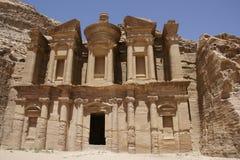 The Monastery in Petra. Jordan stock image