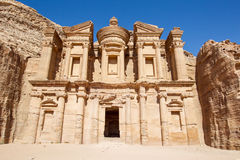 Monastery at Petra Stock Photos
