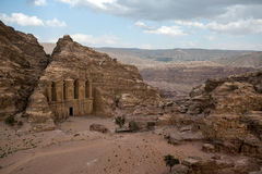 The Monastery in Petra, Jordan Royalty Free Stock Photo