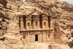 Monastery in Petra, Jordan Stock Photography