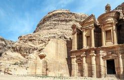 The Monastery of Petra Royalty Free Stock Photography