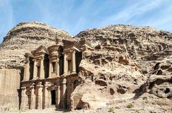 The Monastery of Petra Stock Photography