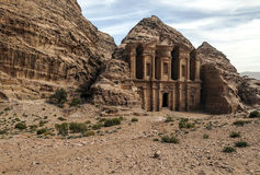 The Monastery of Petra Stock Image