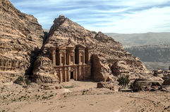 The Monastery of Petra Royalty Free Stock Photos