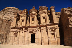 The Monastery at Petra Royalty Free Stock Photography