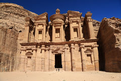 The Monastery at Petra Stock Photos