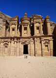 The Monastery at Petra Stock Photo