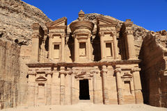 The Monastery at Petra Stock Image