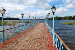 Monastery pier on Royalty Free Stock Photography