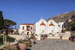 The monastery Piso Preveli - functioning monastery in Crete. Greece stock photos