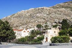The monastery Piso Preveli - functioning monastery in Crete,. Greece royalty free stock photography