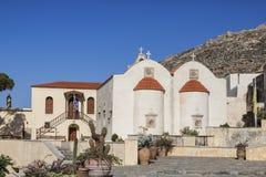 The monastery Piso Preveli - functioning monastery in Crete. Greece stock photo