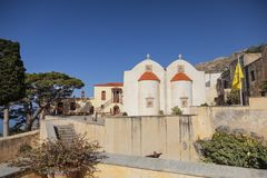 The monastery Piso Preveli - functioning monastery in Crete. Greece royalty free stock images
