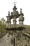 Monastery of Pitoes. Detail of the bell tower over the entranceway to the church of the Monastery of Pitoes , Portugal Royalty Free Stock Photos