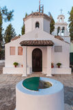 Monastery on Pontikonisi island, Corfu, Greece Stock Photo