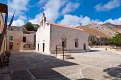 Monastery of Preveli on the Crete island, Greece. Royalty Free Stock Photography